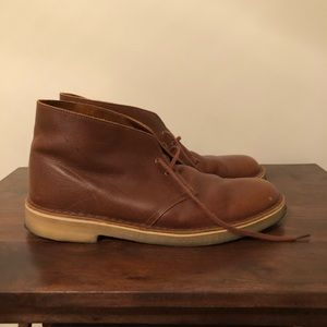 Men's Leather Desert Boots Size 10.5